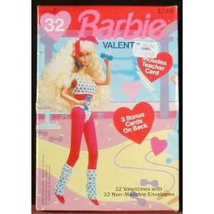 Barbie Valentines Day Cards Box of 32 with Teacher and 3
