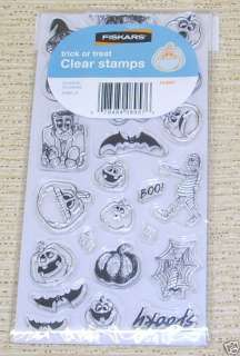 Fiskars Clear Stamps Halloween Trick or Treat NIP