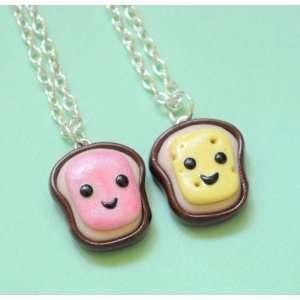 Handmade Ham & Cheese Best Friend Necklaces Toys & Games