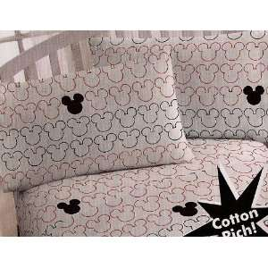 Disney Mickey Mouse Standard Pillowcase Black/Red/White