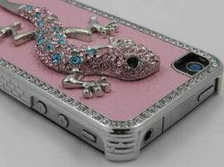 Rhinestone Czech Bling Lizard Case Cover for iPhone 4, 4S