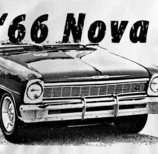 Chevy Nova 1966 Classic Chevrolet Car Auto T Shirt XL