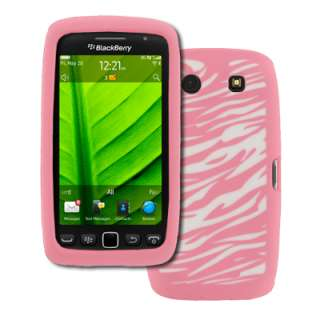 for BlackBerry Torch 9850 9860 Pink Zebra Skin Case+Stereo Ear bud