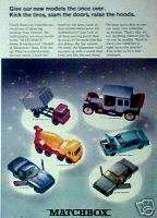 Matchbox Diecast Kids Toy Vehicles Cars,Trucks Promo Trade AD