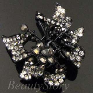 ADDL Item  Austrian rhinestone crystal butterfly hair