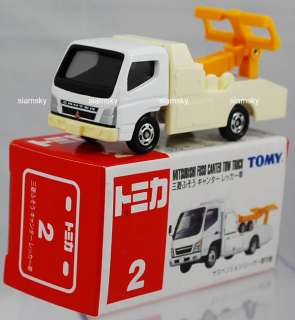 TOMICA #2 Mitsubishi Fuso Canter Tow Truck diecast car