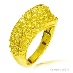 LenYa Specials, Gorgeous Design Womens Yellow Gold Plated