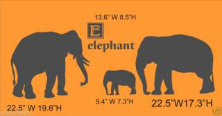 Elephant Mom Dad Baby Nursery Wall Decor Vinyl Decal