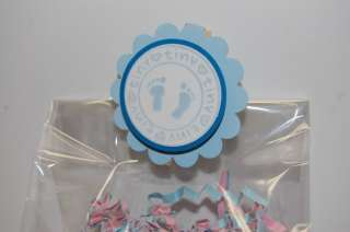 Blue Boy Baby Shower Treat Bag Toppers Party Favors