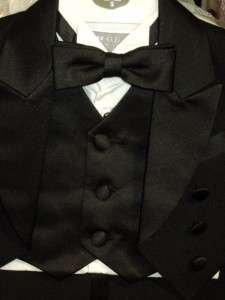 Baby Boys Black Wedding Tuxedo Ring Boy/K1/Medium/ 6 12 Months