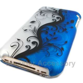 Blue Flower Hard Case Cover For Apple iPhone 3G 3GS