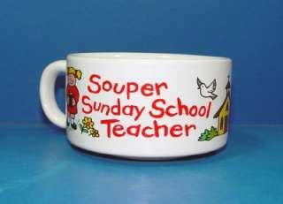 Souper Sunday School Teacher Soup Cup Bowl Church