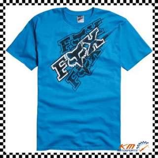 FOX RACING BACKFIRE TEE T SHIRT XXL 2XL 2X ELECTRIC BLUE SHORT SLEEVE