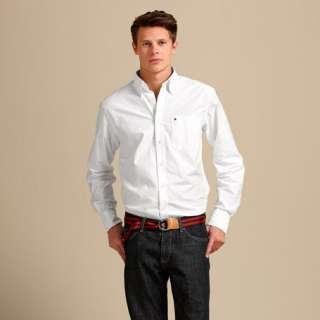NWT $65 TOMMY HILFIGER MENS Long Sleeve White SHIRT  ALL SIZES @ 40%