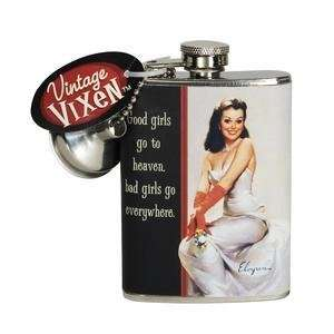 TRENDY VINTAGE VIXEN 4 OZ GOOD GIRLS GO TO HEAVEN HIP FLASK NIGHT OUT