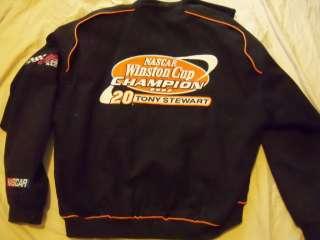 Authentics Mens XL NASCAR Tony Stewart  Racing Jacket