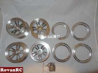 wheels and beadlocks fits HPI Baja 5B SS Buggy SET OF 4