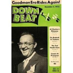 1952 Cover Down Beat Benny Goodman Swing Jazz Musician