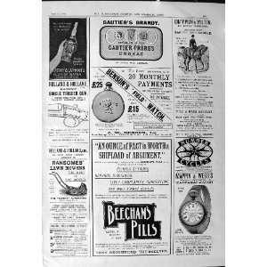 1901 Advertisement GautierS Brandy BensonsS Watches
