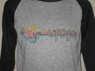 vintage 1981 UTOPIA TODD RUNDGREN TOUR RAGLAN T Shirt LARGE concert