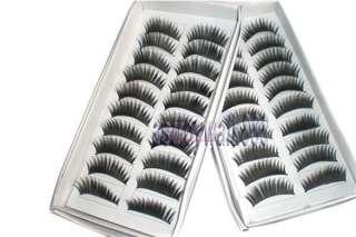 10 Pairs Charming Beauty False Fake Black Eye Eyelashes