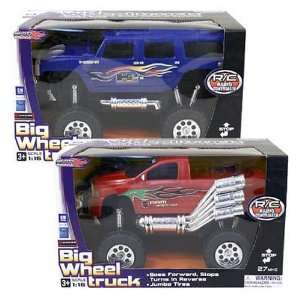 Big Wheel Radio Control Truck 13 Inches Case Pack 4 Toys