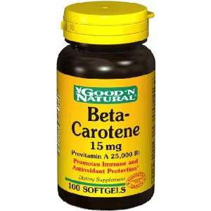 Beta Carotene 15 mg 100 Softgels: Grocery & Gourmet Food