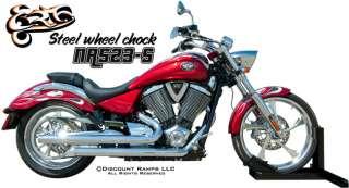 EASYRIDE USA MOTORCYCLE WHEEL CHOCK CRUISER HARLEY SPORT BIKE STAND