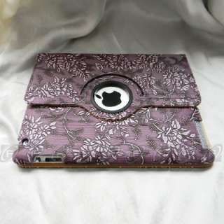 The New iPad 3 /2 360 Rotating Magnetic Smart Leather Case Stand