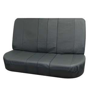 Deluxe Leather Split Bench Seat Cover Gray