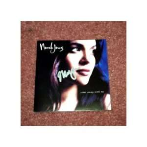 NORAH JONES autographed SIGNED Cd Cover