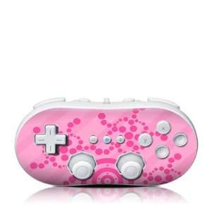 Crop Circles Pink Design Skin Decal Sticker for the Wii
