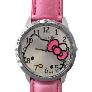 New Hello Kitty Big Watch with Pink Pearled Strap