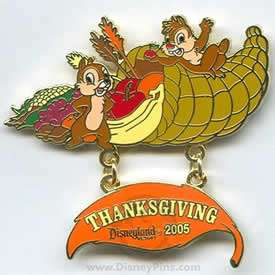 Chip & Dale Thanksgiving 2005 LE DLR Disney Pin