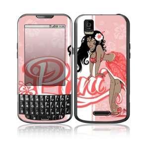 Motorola Droid XPRT Decal Skin Sticker   Puni Doll Pink