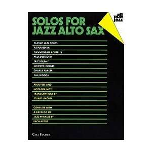 Solos for Jazz Alto Sax Musical Instruments