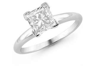 Carat TDW Certified F G SI2 Princess Cut Diamond Solitaire