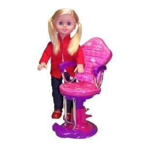18 On the Go Girl Doll and Salon Chair Toys & Games