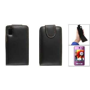 Gino Black Faux Leather Flip Case for Samsung SGH F480