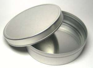 Blank Round Metal Tin Box Survival Kit Containers #4