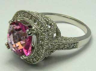 BLINDING PINK TOURMALINE & DIAMOND RING 5.0CTS