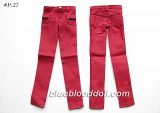 bjd boy doll red jeans outfits clothing SD13 sd16 super dollfie