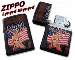 Zippo USA Lynyrd Skynyrd Black Matte Lighter 28022