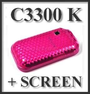 TPU SILICONE GEL CASE COVER SAMSUNG C3300K CHAMP +Scr