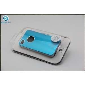 Air Jacket Cover Case for AT&T iPhone 4 4S Light Blue (W/ Retail Box