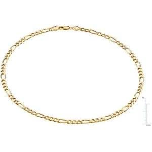 14 karat yellow gold Figaro Chain Diamond Designs Jewelry