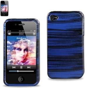 Hard Case Designed for Men IPhone 4 4S Black with Blue