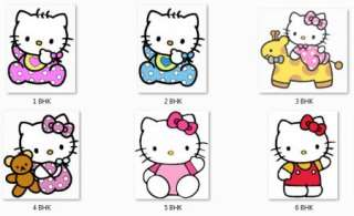 Personalized HELLO KITTY Baby Shower Favor Tags