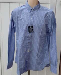 Ralph Lauren Mens Rugby dress shirt blue striped 15.5 15 1/2 nwt