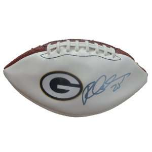 Ryan Grant Autographed Green Bay Packers Logo Football W